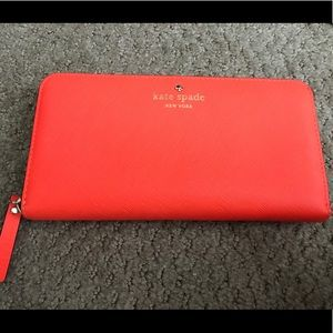 kate spade new york Orange Lacey Wallet